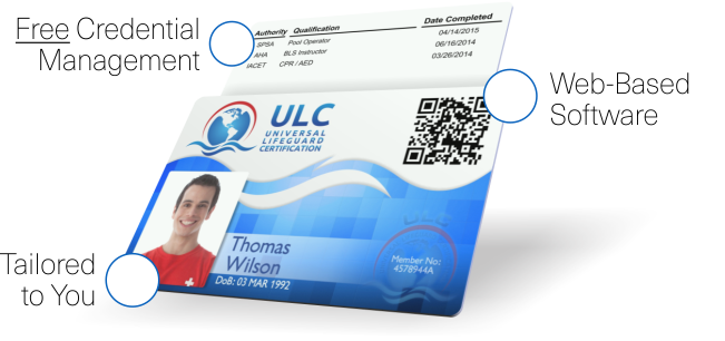 universal lifeguard certification—credential management